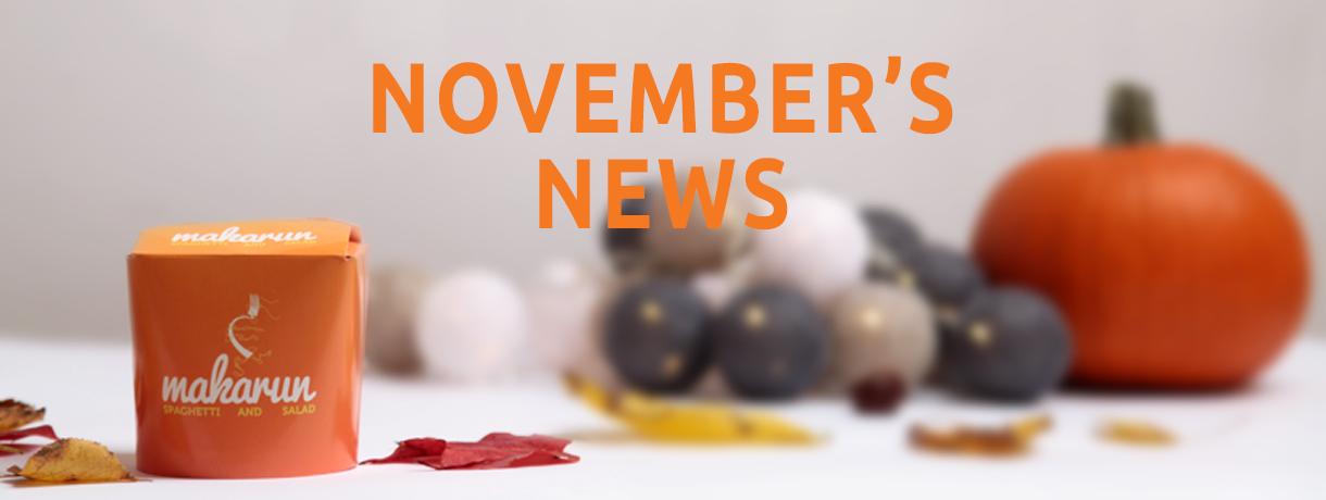 The November's news!